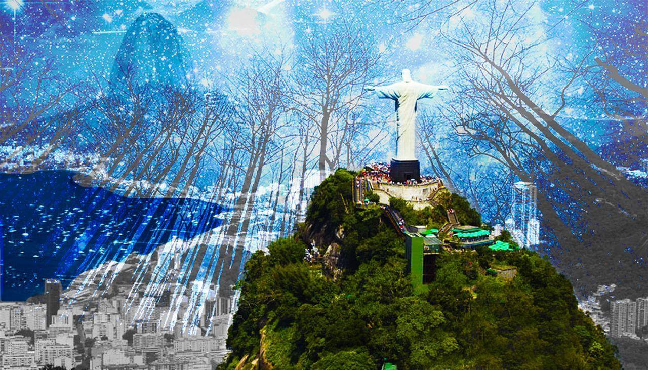 Rio De Janeiro Eyeem Fotos Collection⛵ Rio De Janeiro, Brazil Brazilian Brasil Cristo Rei Cristo Redentor-Río De Janeiro Efectos Especiales Efect Night Colour Of Life Cold Temperature Colors Of Nature