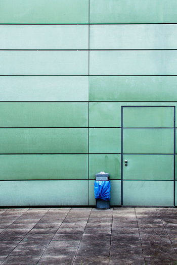 Absence Architecture Blue Building Building Exterior City Closed Colors Day Empty Graz Green Color No People Office Building Outdoor Photography SIMPLY Symmetry Tile