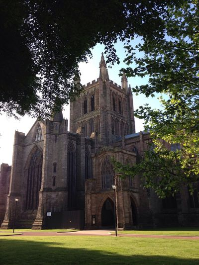 Hereford Cathedral Architecture_collection Sun And Shadow Sun And Trees Enjoying History Amazing Architecture Cathedral Places Of Worship Cathedrals  Architecture Buildings Religion Place Of Worship Tree Spirituality Belief Travel Destinations History Built Structure Building Exterior Architecture Building Abbey Outdoors The Past Nature Lawn Grass Day Plant