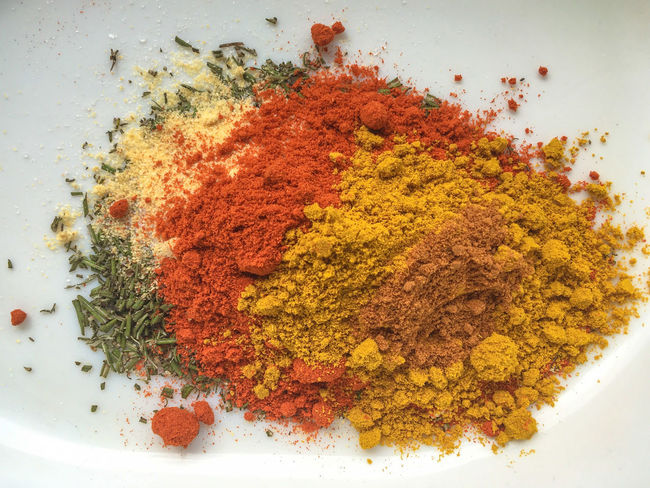 My favorite chicken rub :) Chili  Close-up Condiment Curry Day Food Freshness Garlic Indoors  Ingredient Marinade No People Red Rosemary Spice