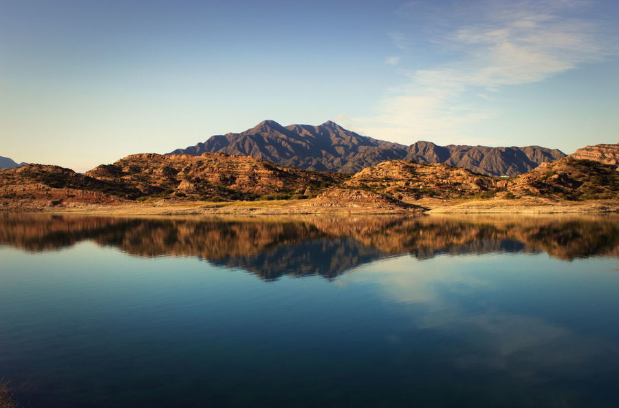 Amazing View Beauty In Nature Blue Countryside Day Lake Landscape Mendonza / Argentina Mountain Mountain Range Nature No People Non-urban Scene Outdoors Potrerillos Reflection Remote Scenics Sky Standing Water Tranquil Scene Tranquility Water