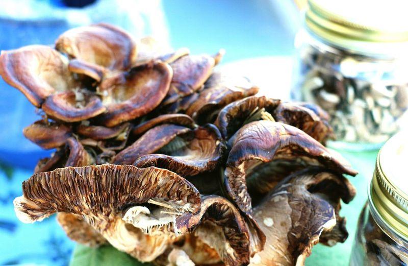 Mushroom Close Ups Mushrooms 🍄🍄 Sante Fe New Mexico SanteFeFarmersMarket Localfood Fresh Vegetables Wholesome Goodness Close-up