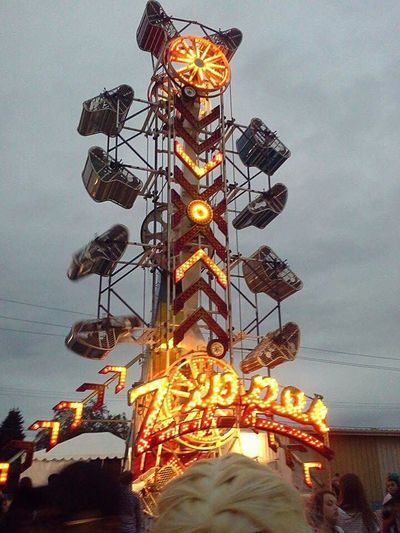 Love the smell of food in the air at the fair 🎶💫 Washington Outside Roller Coaster Fun Hair Fair Carnival Rides Lights Puyallup Fair
