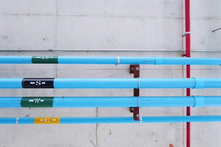 Transfer pipes on building