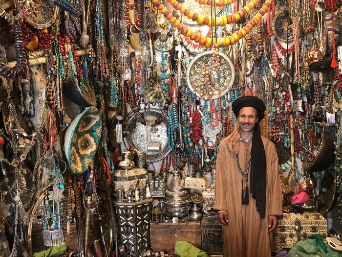 Arts And Crafts Art Arts And Crafts In The Eye EyeAmNewHere Colors Marocco Africa One Person Multi Colored Portrait Front View Standing Looking At Camera Art And Craft Wall - Building Feature Lifestyles Creativity Fashion Abundance