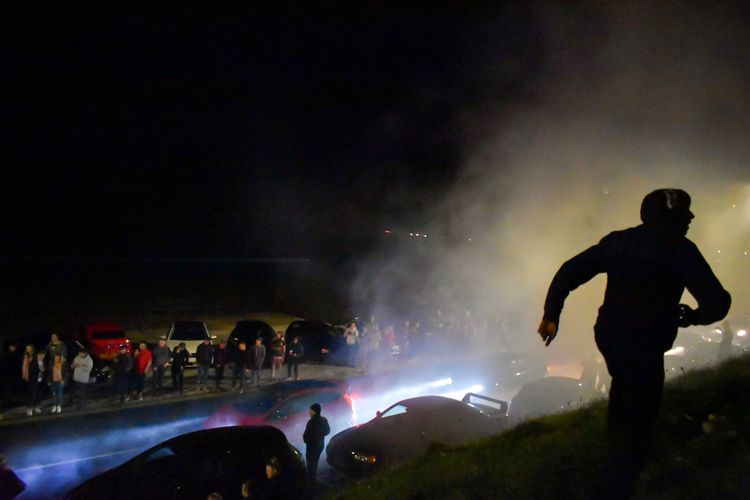 Large Group Of People Night Real People Event Arts Culture And Entertainment Crowd Enjoyment Leisure Activity Fun Lifestyles Men Nightlife Silhouette Celebration Smoke - Physical Structure Illuminated Music Excitement Women Togetherness Cars Car Meet Scarborough