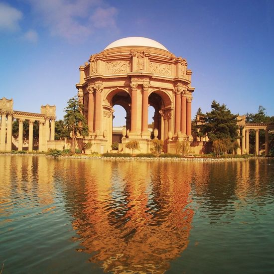 Reflection San Francisco The Palace Of Fine Arts, SF Mextures