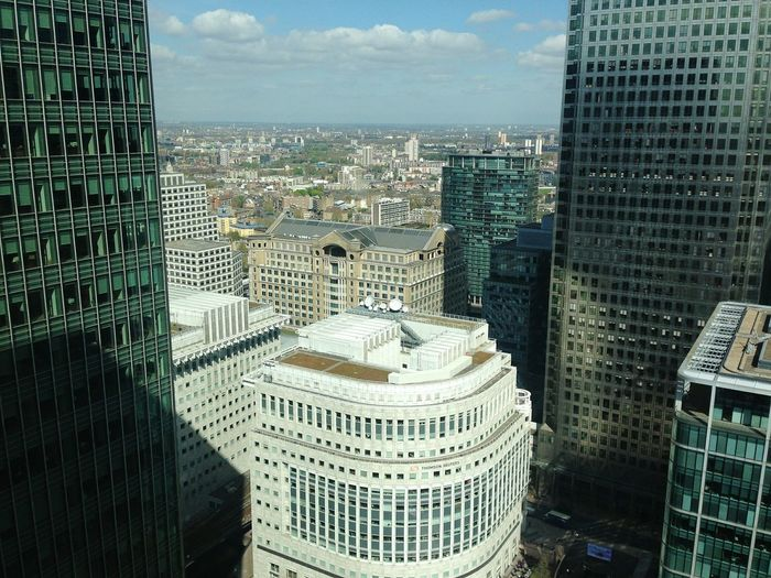 Architecture London Canary Wharf Unseen London Cityscape City Looking Down