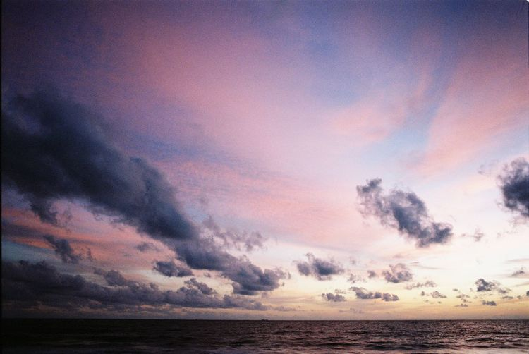 Overnight Success Sea Water Horizon Over Water Tranquil Scene Scenics Sky Tranquility Sunset Beauty In Nature Waterfront Cloud Nature Majestic Cloud - Sky Cloudscape Idyllic Dramatic Sky Moody Sky Non-urban Scene Atmosphere Sunset_collection Analogue Photography