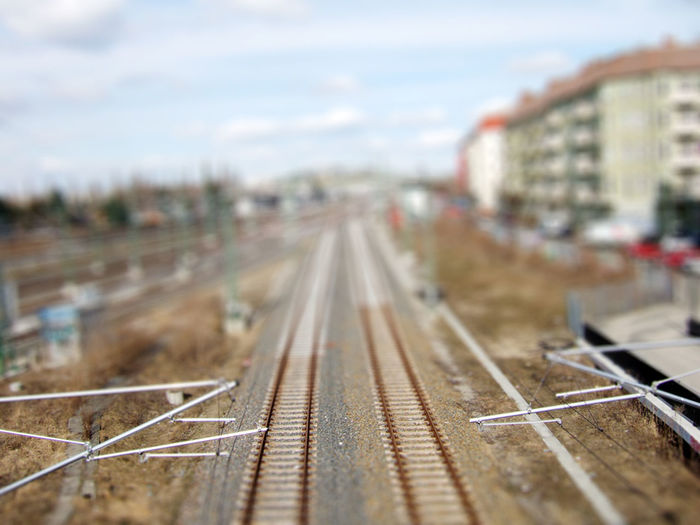 Berlin City Life Focus On Foreground Model Train Public Transportation Rail Transportation Railroad Railroad Track Railroad Tracks Railway Track Tilt-shift Tiltshift Train Track Transportation Travel