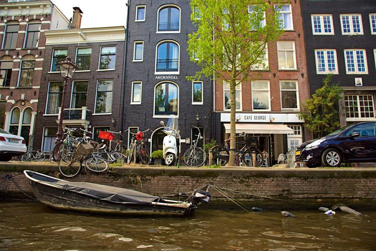 Building Exterior Architecture Bicycle Travel Car Water City Life Canal Stationary Built Structure Transportation Parking Amsterdam Steetphotography Tranquil Scene City Water In City