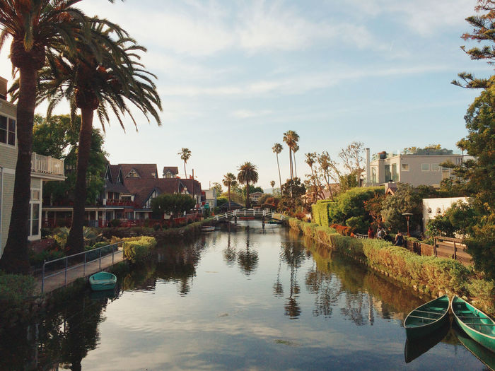 Holiday La Losangeles Reflection Standing Water Tropical Climate V Venice Canals Water