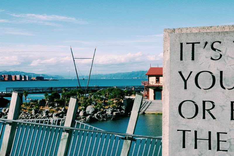 Texts on the waterfront / Textos en el malecón. Text Waterfront Landscape City Day Sea Enjoying Outdoors Sky Water Oceania Passing Urban Texto Malecon Paisaje Ciudad Dia Mar Disfrutando  An Eye For Travel A New Beginning