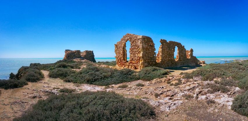 Punta Braccetto Ragusa Sicily Italy Travel Photography Travel Voyage Traveling Mobile Photography Fine Art Panoramic Views Architecture Historical Buildings Stone Walls Ruins Nature Shorelines Sea Waves Mobile Editing