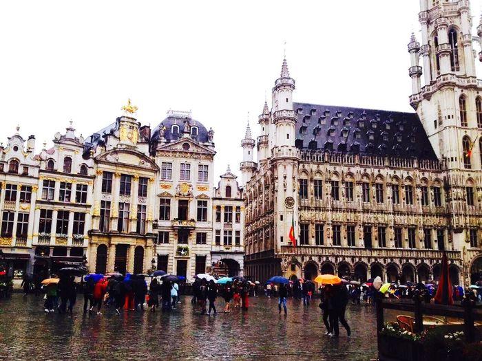 The Bruxelles Grand Place~La grande place de Bruxelles (布鲁塞尔大广场) Belgium Bruxelles Grand Place City Architecture