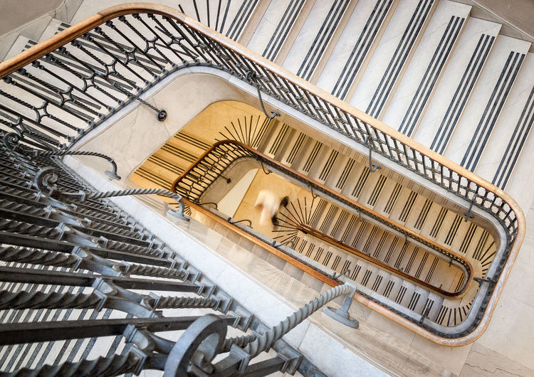 Directly above shot of staircase