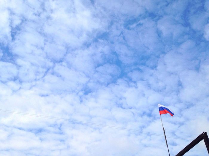 Sky School Day 1 Of September Russia Flag Pole Day Cloud - Sky Siberia Planet City Zapsib Colour Palette Sky Blue Cloud