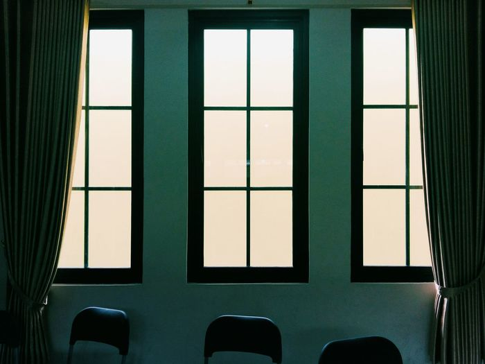 Through the windows Window Windows Inddor Room Empty Room Three Window Landscape Photo Landscape Photo Photography Shilouette Indoors