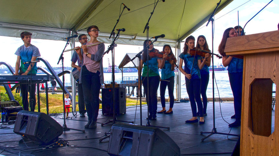 Canada Day performers at Canada Day festival in North Vancouver B.C. Lonsdale Quay North Vancouver,BC Canada Day 2018 July 1st Canada The Photojournalist - 2018 EyeEm Awards Full Length Women Music Concert