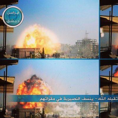 جبهة_النصرة | لحظة الانفجار الناتج عن العملية الاستشهادية دمشق  الغوطة_الشرقية المليحة http://t.co/Y4RvbO8VPg