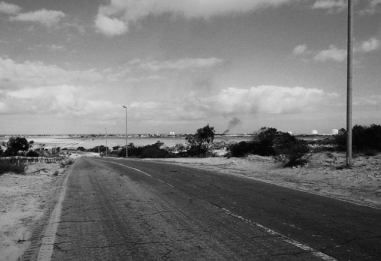 Photography Blackandwhite Black & White B&w On The Road Brega-AirPort Road