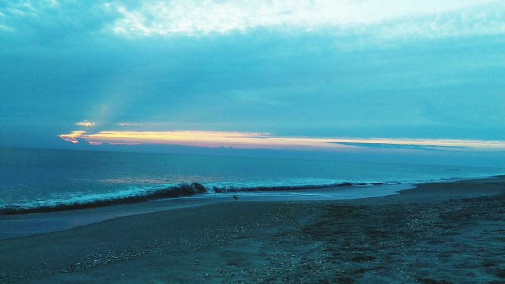 Sunrise Peeking Through Ocean View Beautiful Sand & Sea Seashells LoveBeaches Prettypicture  Taking Photos Colorful