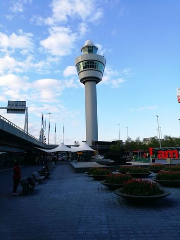 Architecture Built Structure Sky Day Travel Destinations Outdoors Building Exterior No People City Water Politics And Government Schiphol Airport Schiphol Plaza Tower flight tower