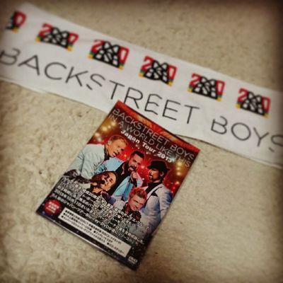 帰ってきたら届いてたぁ~(*´∀`)私の癒し★ Bsb Backstreetboys DVD Towel