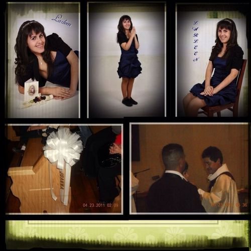 My Confirmation & First Holly Communion Pictures. Confirmation name Jonna