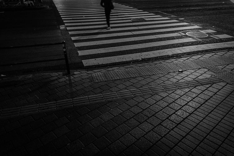 Abstract Street Zebra Crossing Silhouette People Alone One Person Night Dark Walking Urban Lines Fine Art Light And Shadow Cityscape City Road Marking High Angle View Road Crosswalk Footpath Transportation Marking Crossing Shadow Symbol Day Sign Pattern Low Section Outdoors Real People Focus On Shadow 17.62° My Best Photo