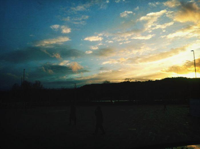 Sunset seen from BellevuePlatz Walking Around