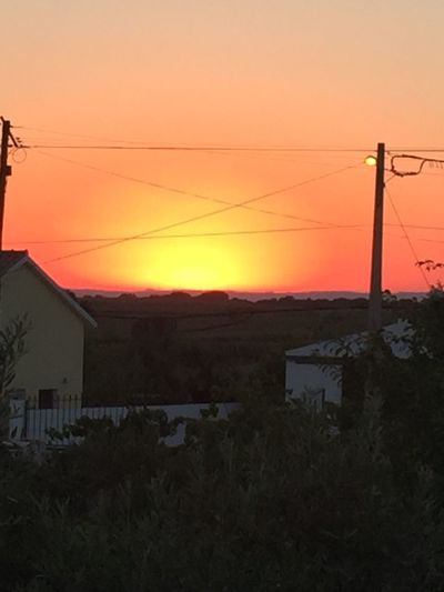 Golden sunset, amazing colours Hello World
