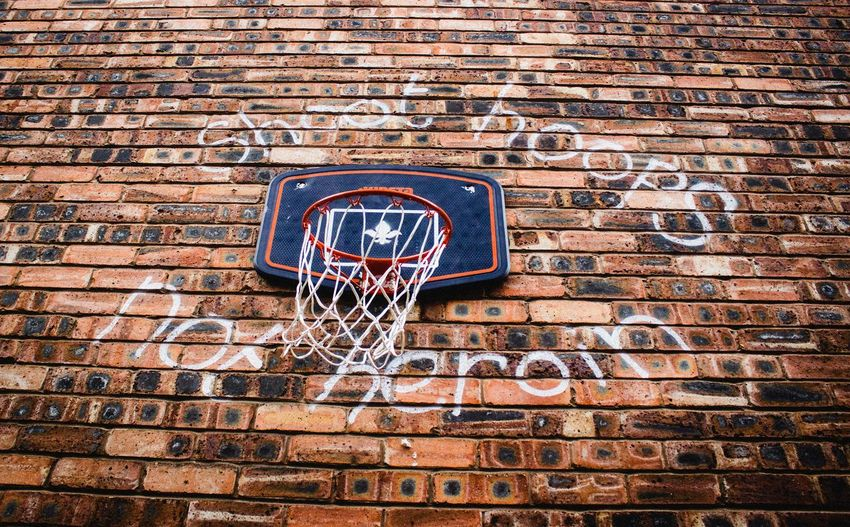 Sport No People Day Basketball Hoop Outdoors Basketball - Sport Close-up EyeEm Selects Photography Themes Building Exterior Low Angle View Graffitti Graffiti Wall Morals  Positive Thinking Positive Message The Week On EyeEm