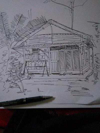 Rumah desa Cuicksketch Urbansketch Urbansketchers Sketches Sketching