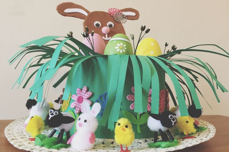 Henry's Easter Bonnet ready. Whole weekend spent on craft Eye4photography  Easter Bonnet Easter Ready Easter Craft Art Hat EyeEm Best Shots London