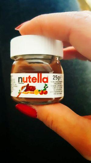 We don't need much.....😂😍 Human Hand Human Body Part Eine Hand Voll Glücklichsein Nutella Smallest Things Chocolate First Eyeem Photo