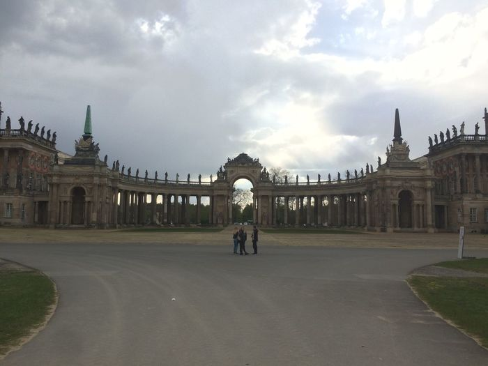#Potsdam Ancient Civilization Arch Architecture Building Exterior Built Structure City Cloud - Sky Day Full Length History One Person Outdoors People Real People Sky Tourism Travel Travel Destinations