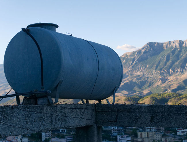 Albania Albania Tour Gjirokaster Architecture Building Exterior Built Structure Day Mountain Nature No People Outdoors Sky Watertank