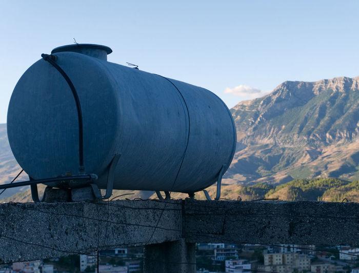 Albania Albania Tour Gjirokaster Architecture Building Exterior Built Structure Day Mountain Nature No People Outdoors Sky Watertank