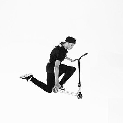 Full Length Leisure Activity Motion Lifestyles Mid-air Jumping Casual Clothing Enjoyment RISK Fun Extreme Sports Young Adult Carefree First Eyeem Photo Eyem Gallery Eyeemphotography EyeEm Best Shots - Black + White EyeEm Best Shots Ayeem! What's Up ??  Person Cut Out Framepicture