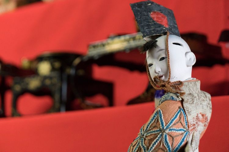 Red Mask - Disguise Human Representation Cultures Venetian Mask Focus On Foreground Carnival Sculpture Statue No People Close-up Outdoors Day Japanese Traditional Doll Japanese Culture Japan Photography Japan