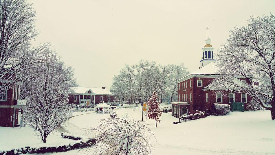 Dat Campus tho.. Snowstorm White MySchool Wintertime