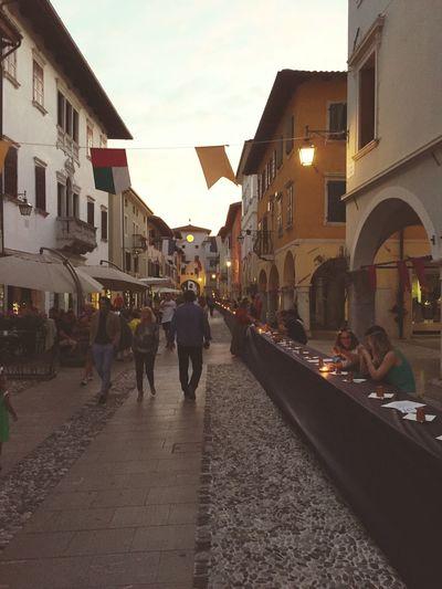 Dinner for 500 Spilimbergo Friuli Venezia Giulia Medieval Festival Dinner Street Lifestyles Culture Italy