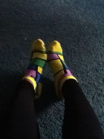 Bitches was hatin on my yellow sock today in gym they mad or naw