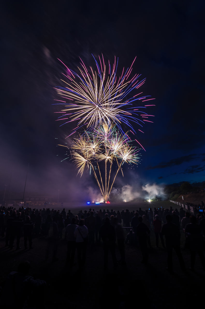 FIREWORK DISPLAY AT NIGHT IN SKY