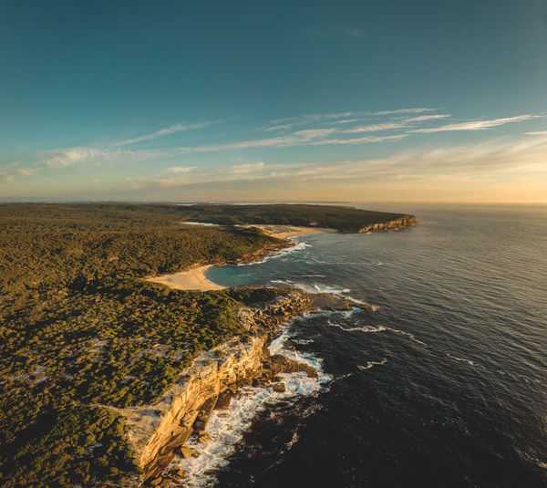The Marley Beaches! ☀️ An early morning drone aerial panorama shot of the rocky Australian coast along the Royal National Park. Sea Water Sky Scenics - Nature Beauty In Nature Tranquil Scene Cloud - Sky Land Nature Beach No People Tranquility Horizon Day Outdoors Idyllic Coastline Sydney Marley Beach Australia Royal National Park Royal Coastal Walk Royal Coast Track Coastal Landscape Early Morning Morning Light Sunlight Remote Hiking Hiking Adventures Drone  Drone Photography Dji DJI Mavic Air Landscape Rocky Coastline High Angle View Aerial View Aerial Travel Destination Tourism Eroded Shore Cliff Soft Colors  Waves Ocean Inlet Panorama
