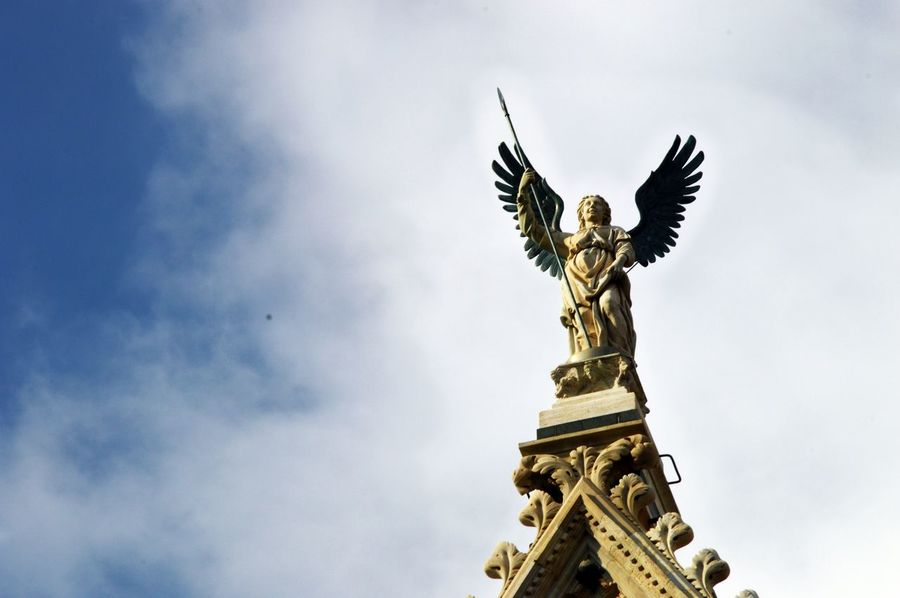 Angel Cathedral Cathedral Decor Protector Sky Spear Wings