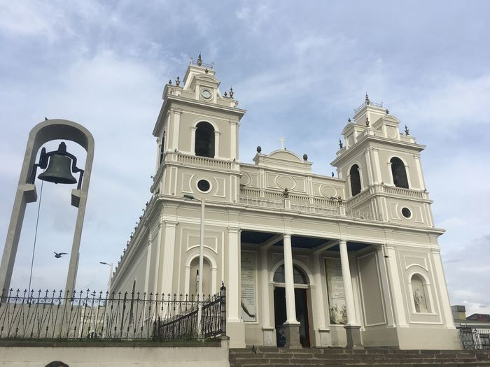 Building Light Costa Rica Fence Religion Church Religious Architecture Iglesia Iglesia Católica  Bell Church Bells Architecture Religion History Travel Destinations Cloud - Sky Sky Built Structure Outdoors Architectural Column Day No People