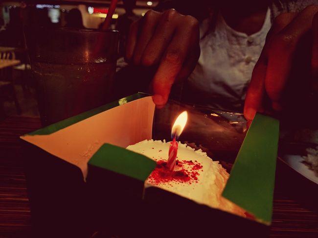 Birhday Candle Cake Celebration