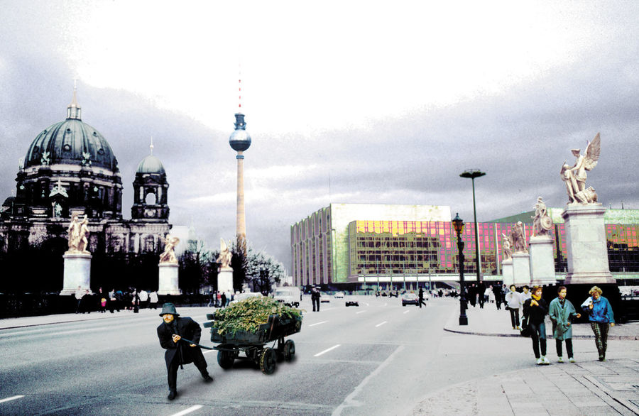 A Man From Yesterday Across The Universe Architecture Berliner Dom Berliner Fernsehturm City City Life Der Dritte Weg Der Palast Der Republik, DDR East Berlin Marx-engels-brügge Marx-engels-platz Outdoors Palace Of Republic, GDR Sosialism Television Tower Berlin